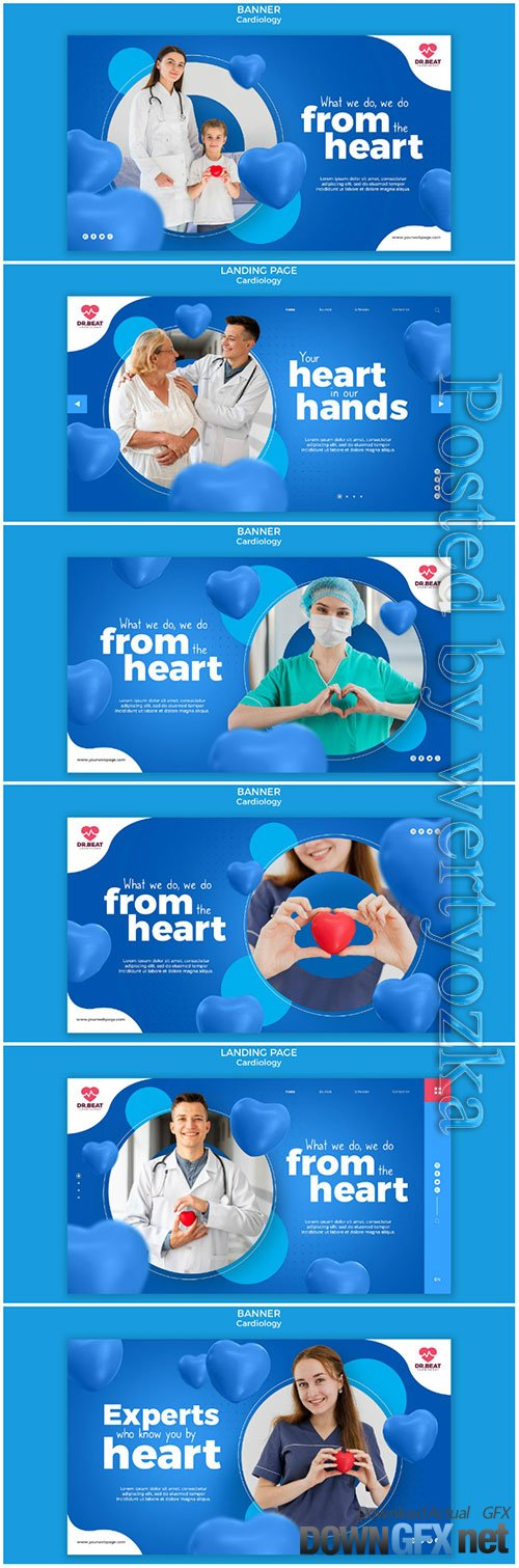 Medic holding a toy heart banner web template premium psd