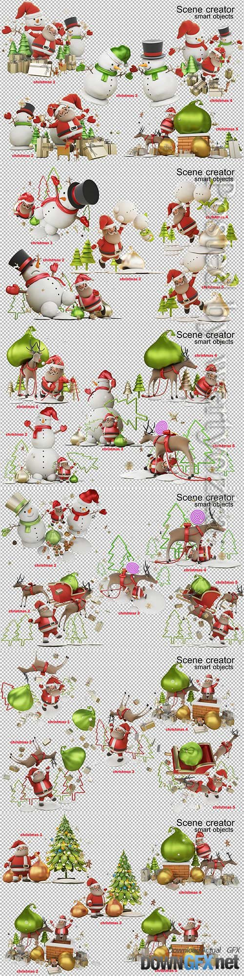 3d illustration a gift from santa claus on christmas day premium psd