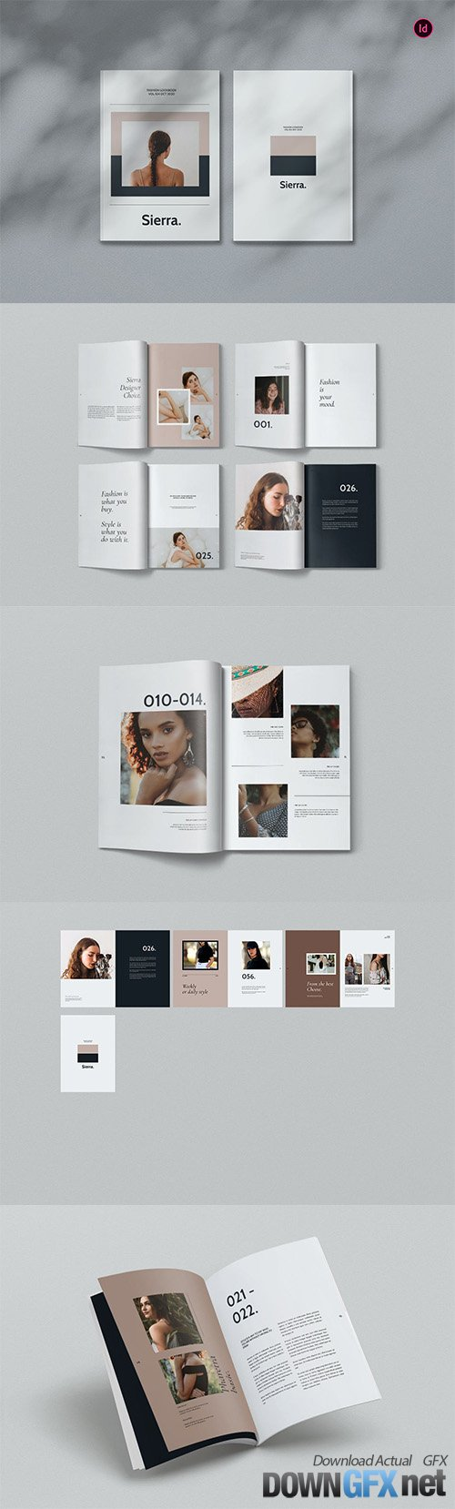 Sierra Fashion Magazine Template BL