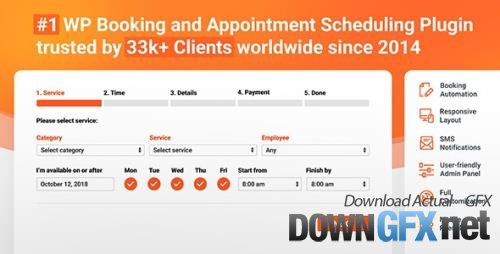 CodeCanyon - Bookly PRO v3.1/v18.9 - Appointment Booking and Scheduling Software System - 7226091 - NULLED
