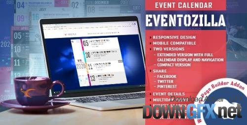 CodeCanyon - EventoZilla - Event Calendar - Addon For WPBakery Page Builder (formerly Visual Composer) v1.2.3.0 - 27345870