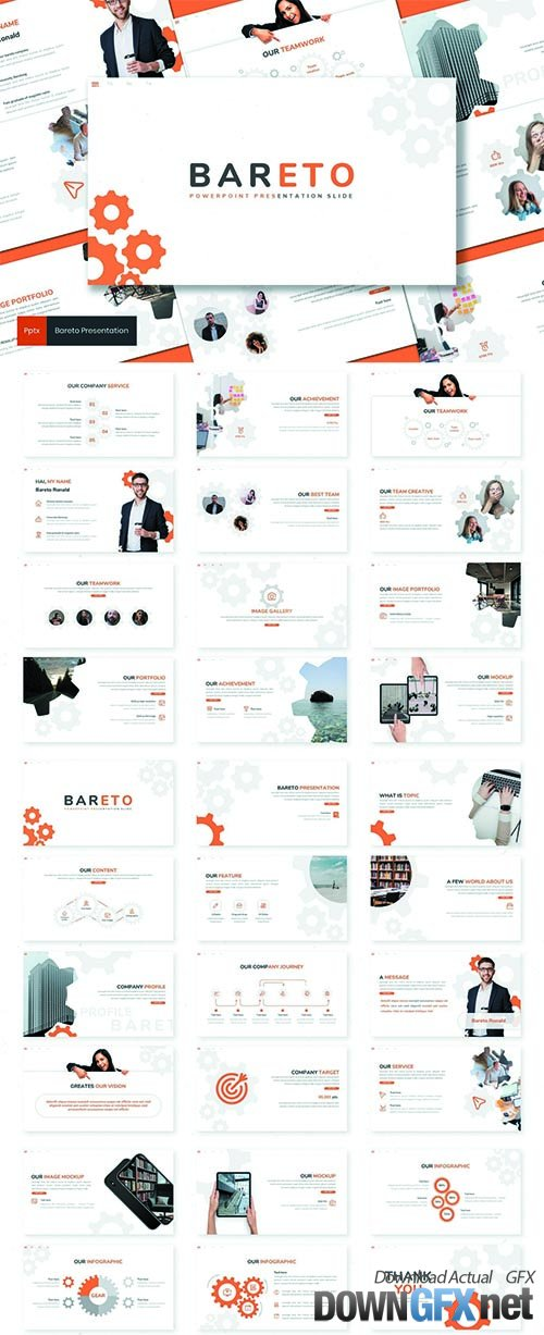 Bareto - Business Powerpoint, Keynote and Google Slides Template