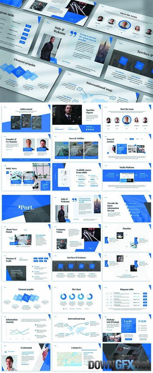 Port - Dynamic Powerpoint Template