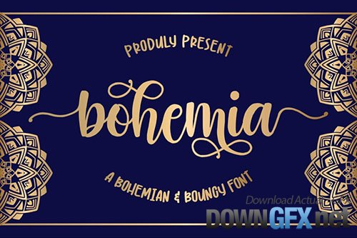 Bohemia a Script with Swash
