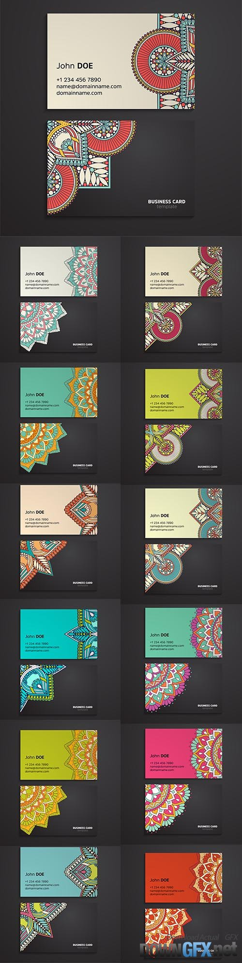 Ethnic oriental mandala business card template