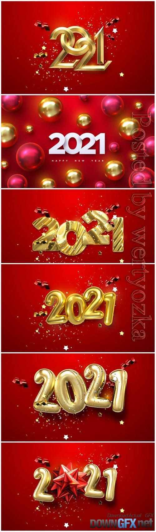 Vector numbers 2021 for new year illustration