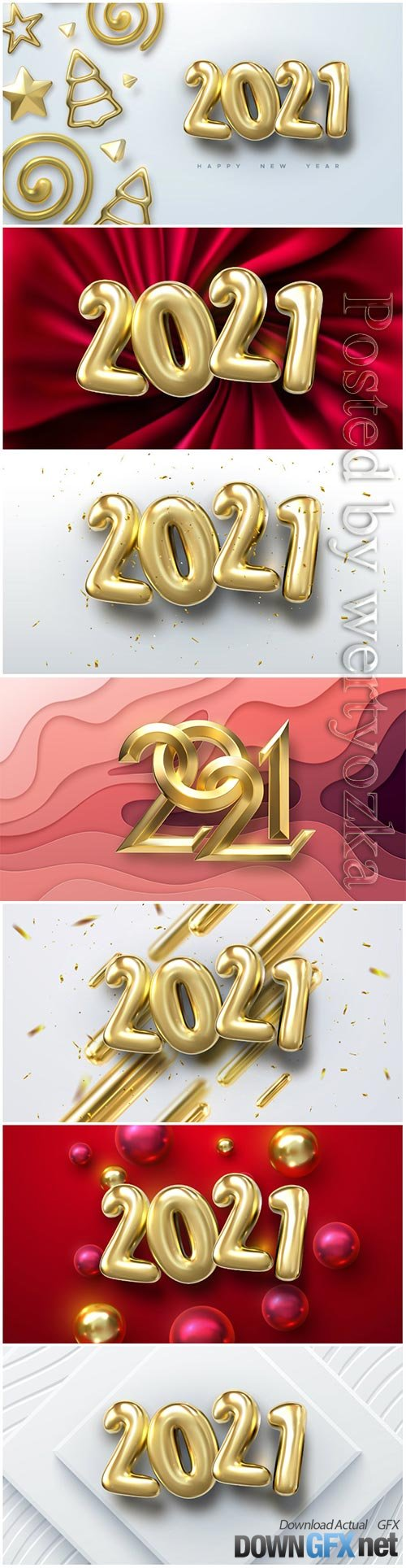 Numbers 2021 for new year vector illustration