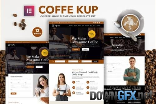 ThemeForest - CoffeeKup v1.0.0 - Cafe & Coffee Shop Elementor Template Kit - 29126139