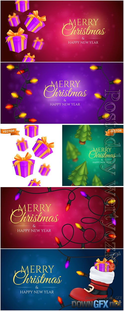Merry christmas 2021 vector illustration