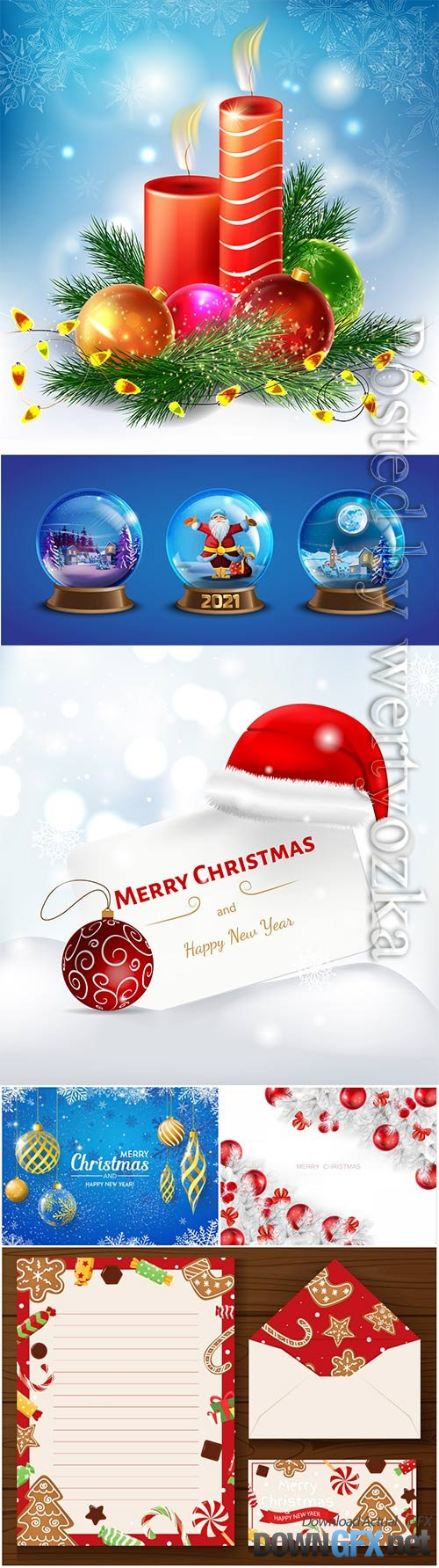 2021 Merry christmas vector illustration