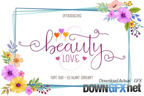 Beauty and Love - Font Duo + Extra