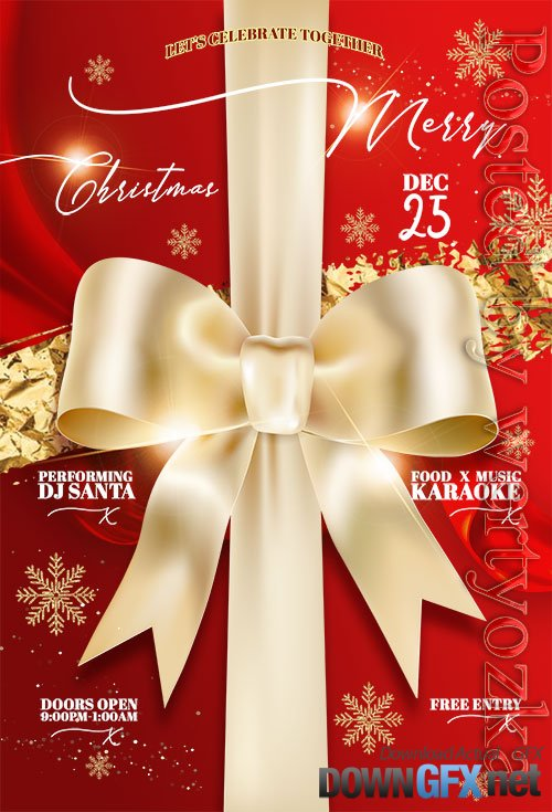 Elegant Christmas Flyer PSD Template