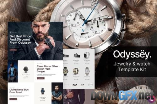 ThemeForest - Odyssey v1.0.0 - Jewelry & Watch WooCommerce Template Kit - 29501358