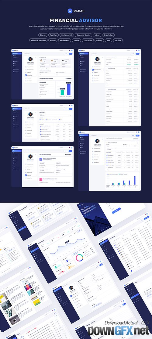 Wealth - Financial Web UI Kit