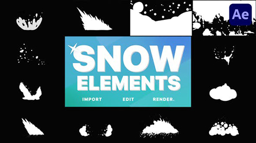 Snowy Elements | After Effects 29621259