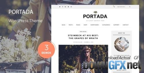 ThemeForest - Portada v2.0 - Elegant Blog Blogging WordPress Theme - 19032008