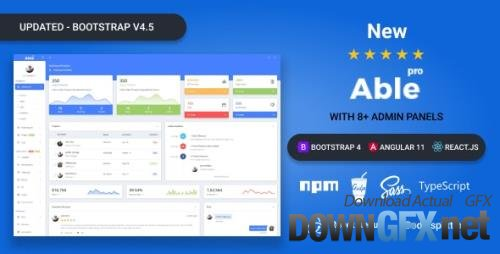ThemeForest - Able pro v8.0.5 - Bootstrap 4, Angular 11 & React Redux Admin Template - 19300403