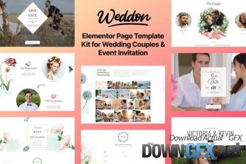 ThemeForest - Weddon v1.0.0 - Wedding Event Invitation Elementor Template Kit - 30088001