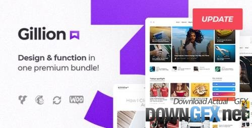 ThemeForest - Gillion v3.8.1 - Multi-Concept Blog/Magazine & Shop WordPress AMP Theme - 19470306