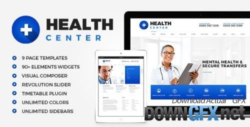 ThemeForest - Health Center v2.2 - Medical WordPress theme - 12279256