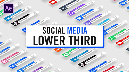 Modern Social Media Lower Thirds 30124497