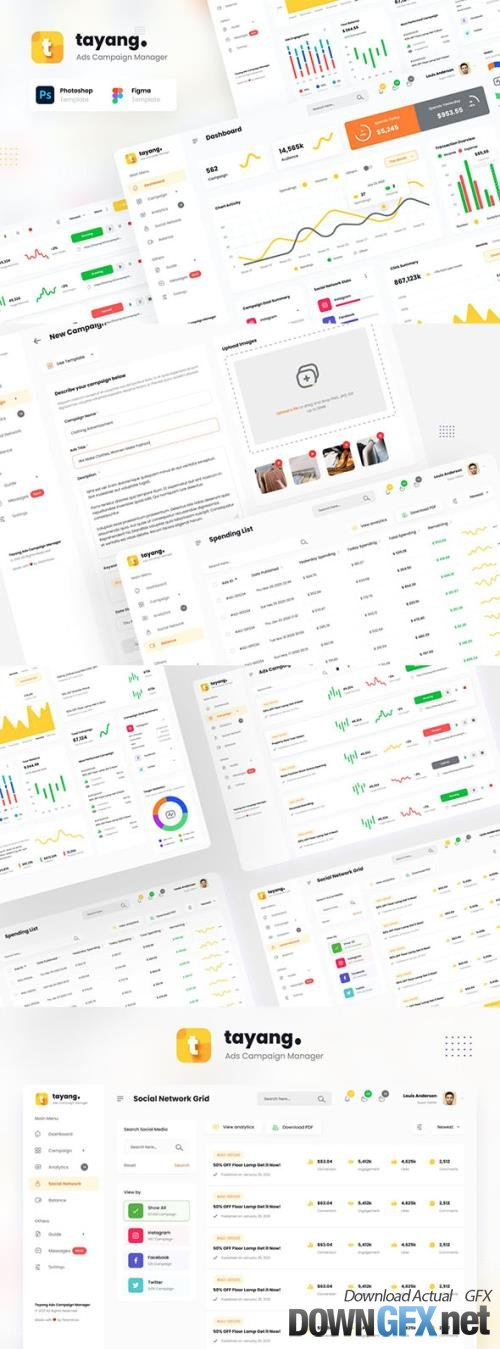 Tayang - Ad Manager Admin Dashboard UI Template