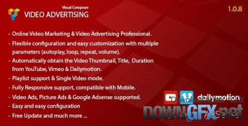 CodeCanyon - Video Advertising Addon For Visual Composer v1.0.8 - 11031886