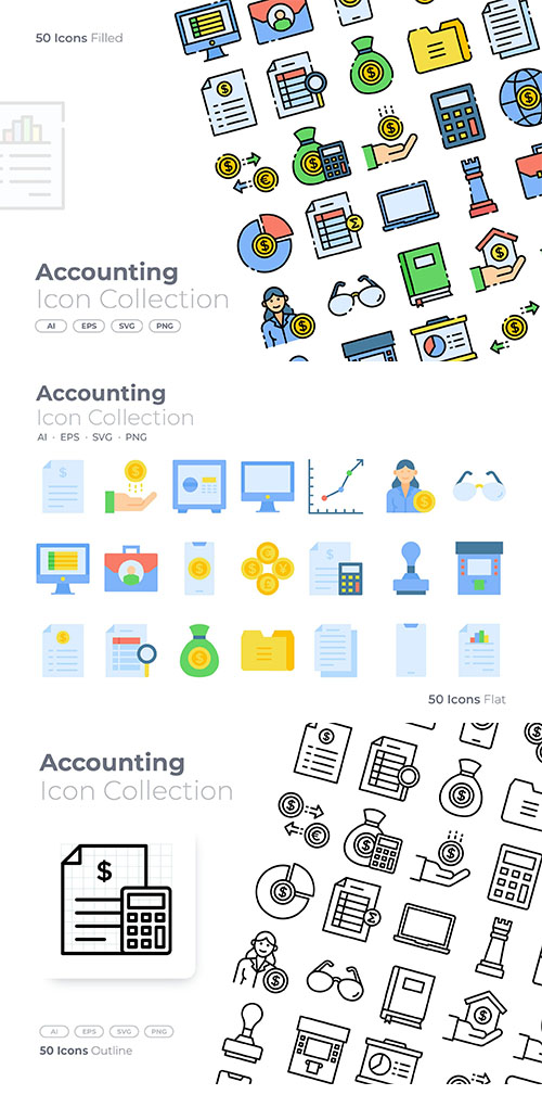 Accounting vector Icons
