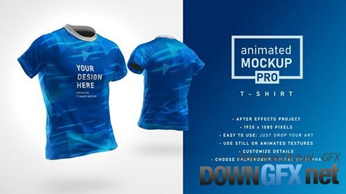 VideoHive - Animated Mockup PRO: 360 Animated T-shirt Mockup Template 30892735