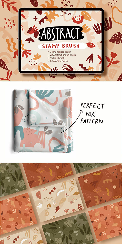 Procreate Abstract Shape Stamp Brushset