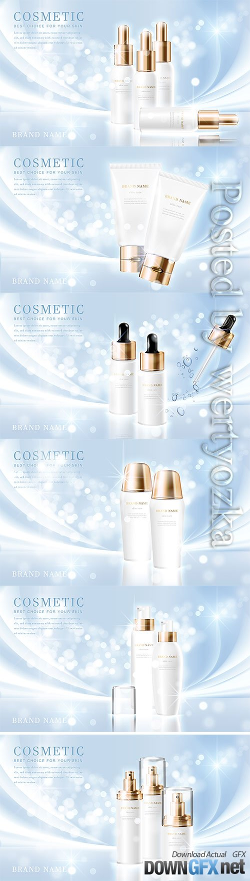 3d elegant cosmetic tube bottle