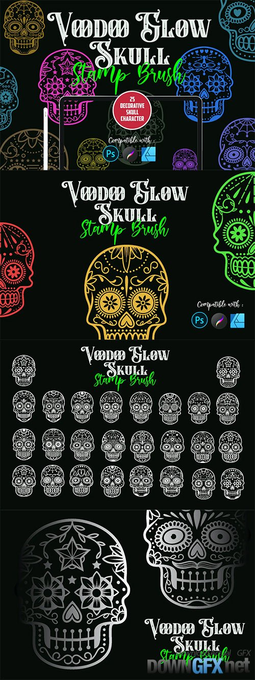 Voodoo Glow Skull | Stamp brush