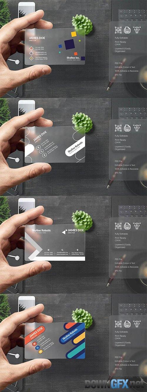 4 Modern Business Card Templates