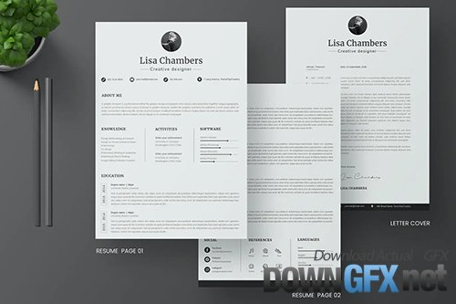 CV Resume & Letter Cover Template