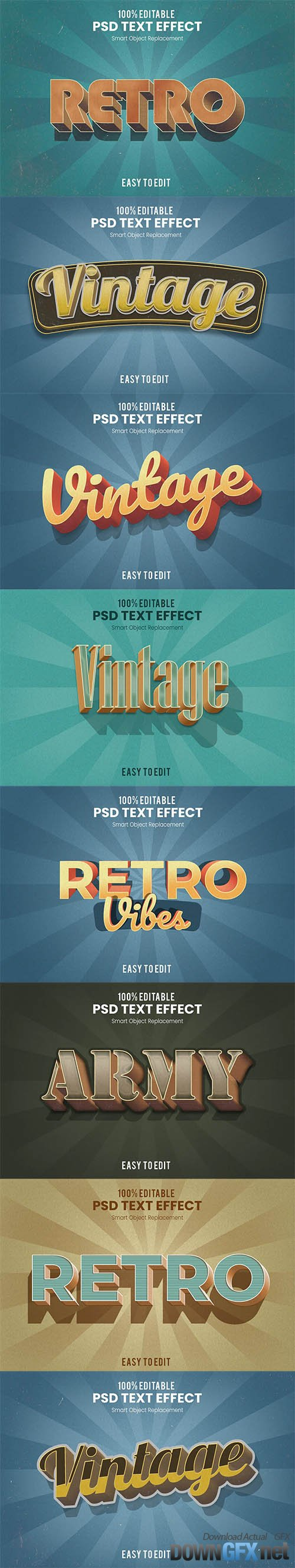 Retro 3D Text Effects Pack