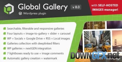 CodeCanyon - Global Gallery v8.002 - Wordpress Responsive Gallery - 3310108