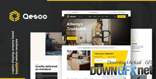 ThemeForest - Qesco v1.0.0 - Logistic Shipping Company WordPress Theme (Update: 17 April 21) - 29228208