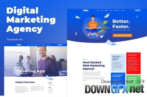 ThemeForest - DMA v1.0.1 - Digital Marketing Agency Template Kit - 26414758