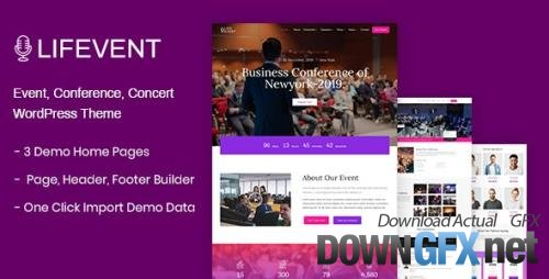 ThemeForest - Lifevent v1.0.7 - Event WordPress Theme - 24924027