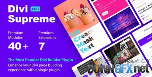 Divi Supreme Pro v4.3.4 - Custom & Creative Divi Modules To Help You Build Amazing Websites
