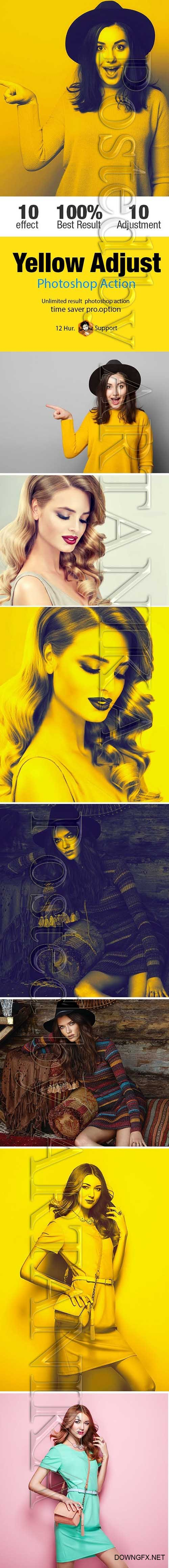 GraphicRiver - Yellow Adjust Photoshop Action 21218653