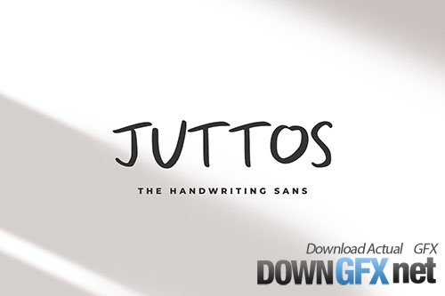 Juttos - The Handwriting Sans