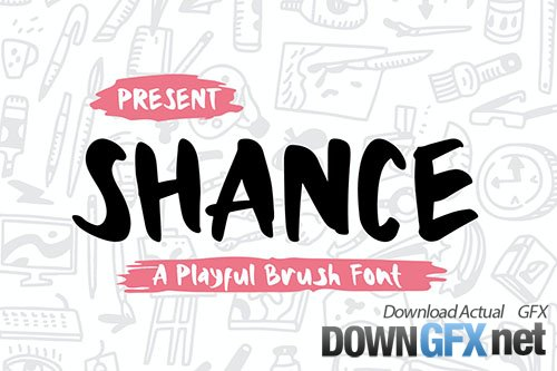 Shance - A Playful Brush Font