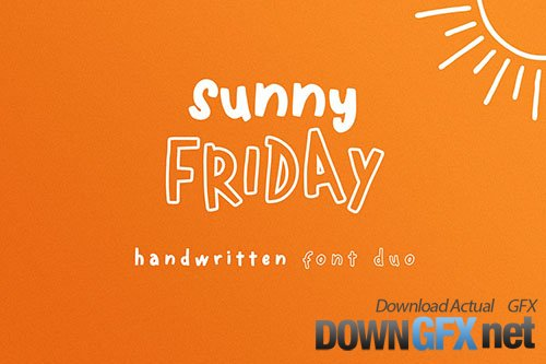 Sunny Friday - Handwritten Font Duo
