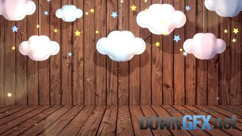 Clouds Paper Craft And Wooden Wall 29315050