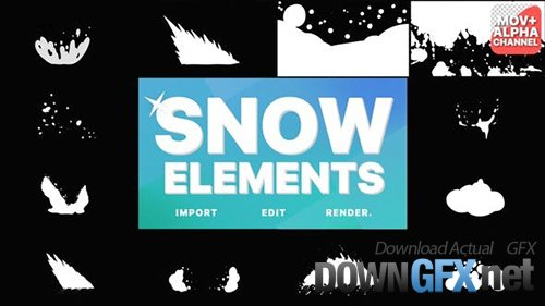 Snowy Elements | Motion Graphics 29621312