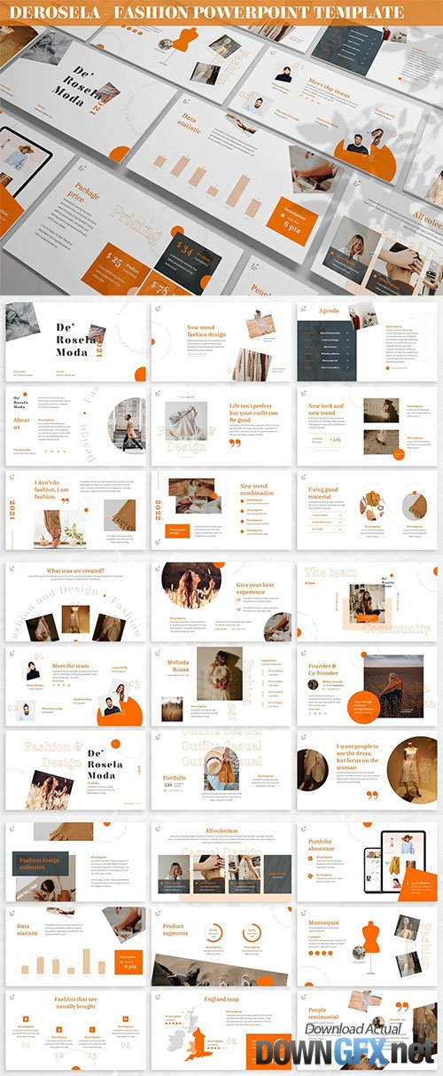 DeRosela - Fashion Powerpoint Template