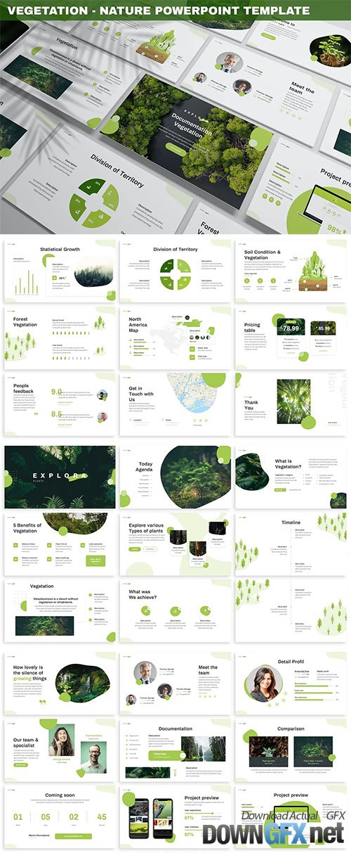 Vegetation - Nature Powerpoint Template
