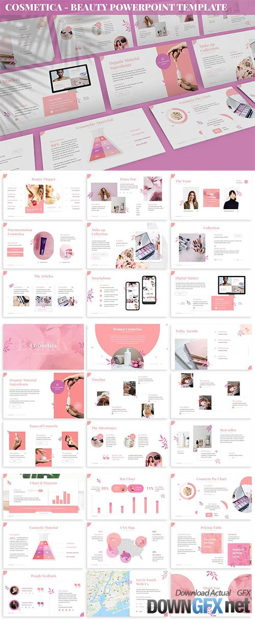Cosmetica - Beauty Powerpoint Template