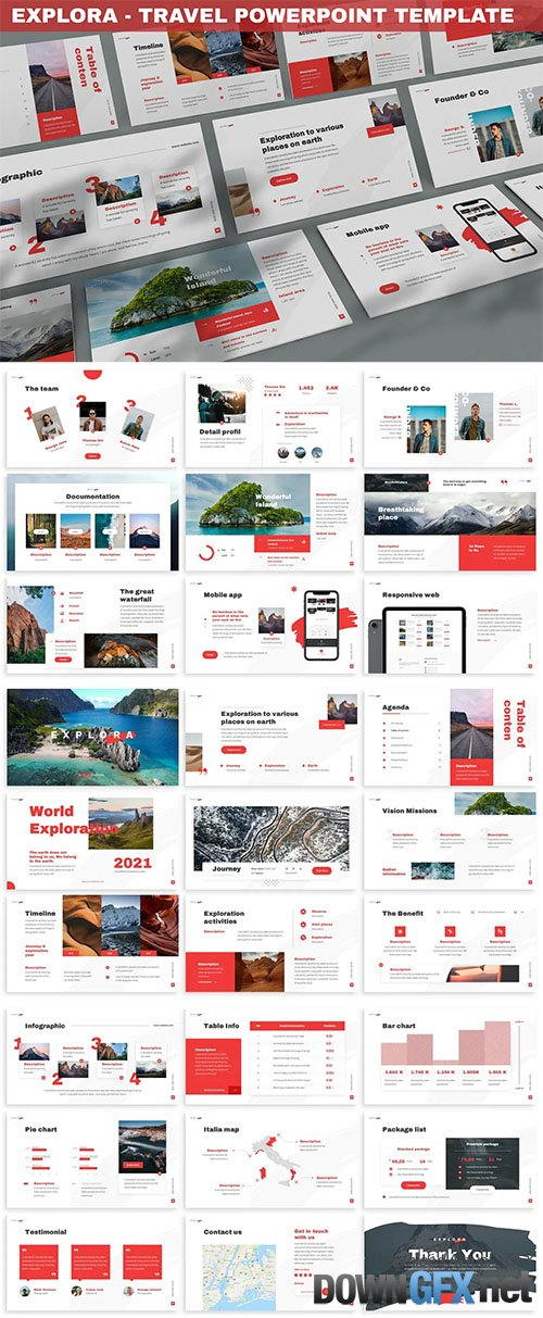 Explora - Travel Powerpoint Template